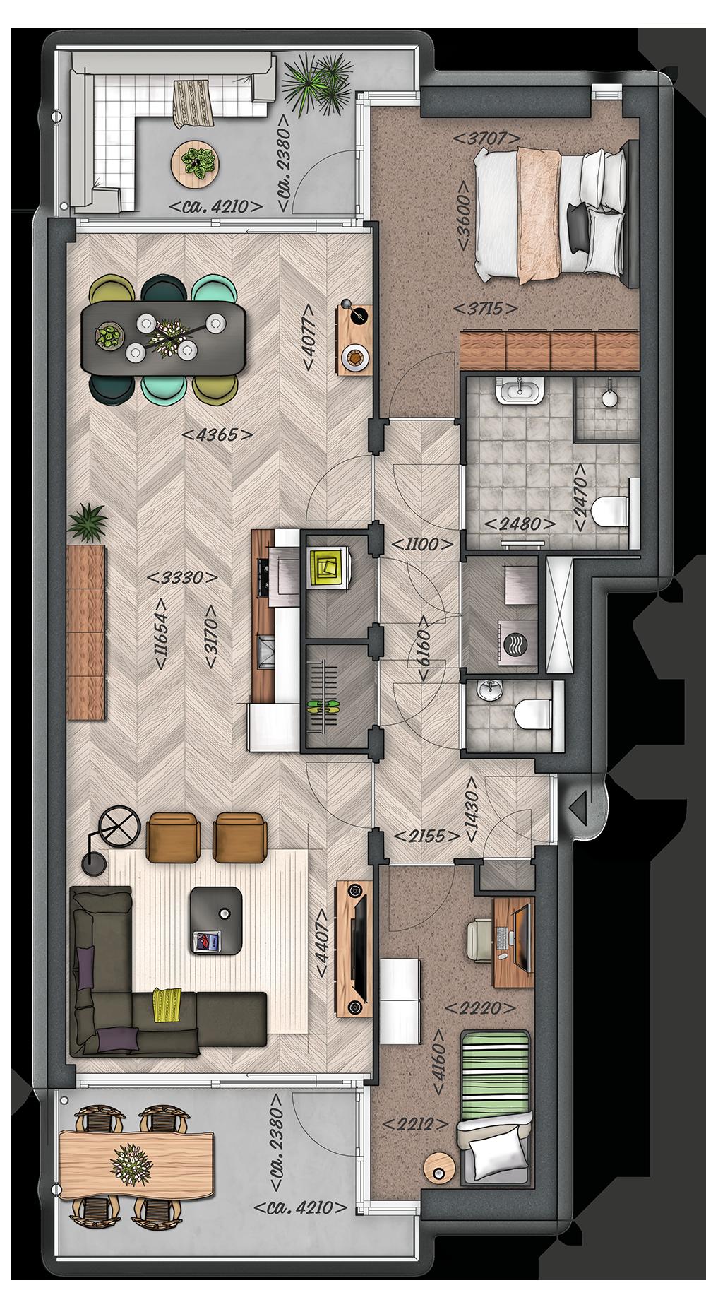 Het Zilt: Appartement type B