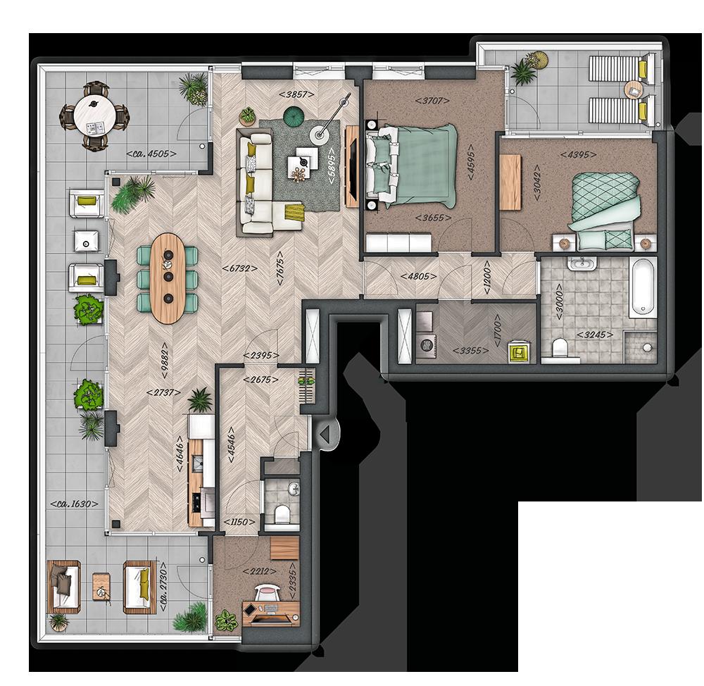 Het Zilt: Appartement type E