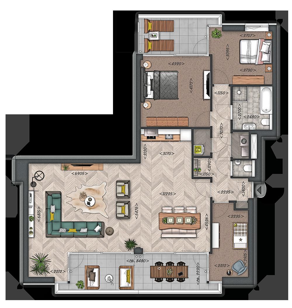 Het Zilt: Appartement type F